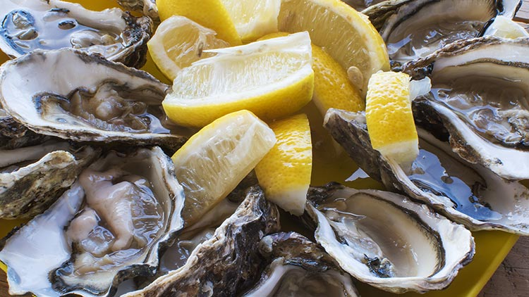 Oysters are great aphrodisiacs